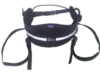 SET: ZeroDC Seat Belt for canicross and skijoring + Lead with damper 2 m (black)